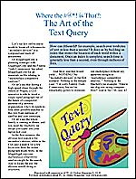 """The Art of the Text Query"""
